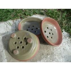 Porte savon en terre cuite