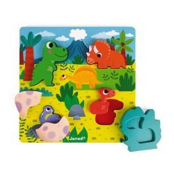 Puzzle Cache-Cache Dino 6 pièces -  JANOD