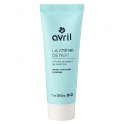 Crème de nuit peaux normales et mixtes 50 ml - Certifié Bio