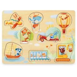 Puzzle à boutons Transports 8 pcs Ulysse